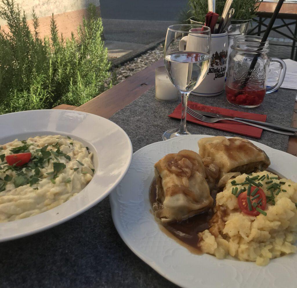 Kulinarik-im-Remstal_Käsespätzle und Maultaschen im Gretle in Strümpfelbach